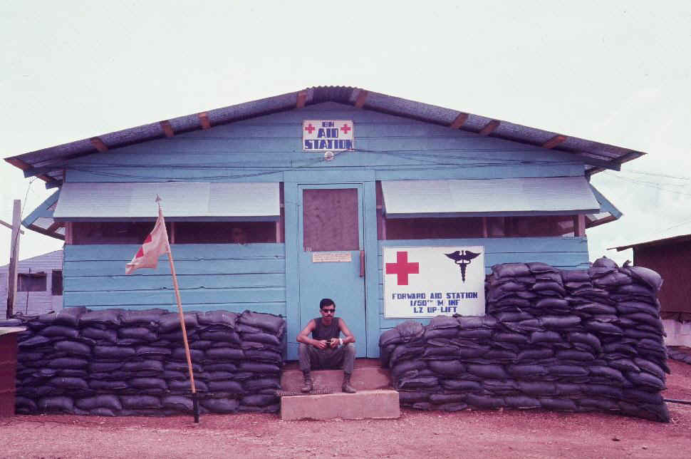 the aid station  1st battalion  mechanized   50th infantry